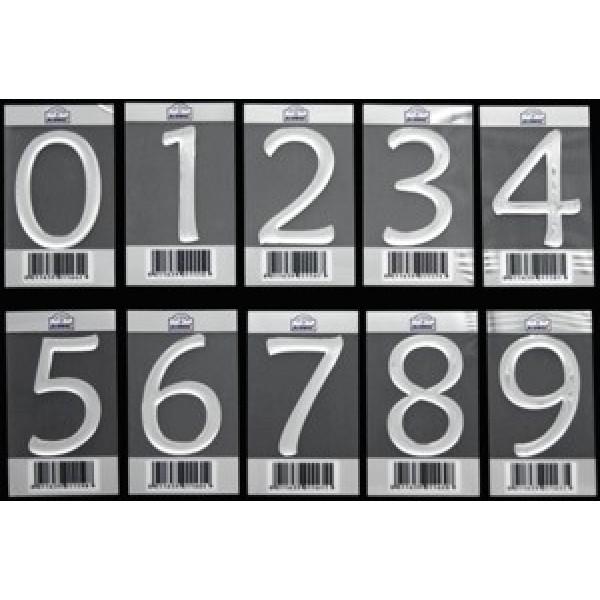 Numeri Civici In Plastica.Blister 5 Numeri Civici In Resina Adesiva Colore Argento Alubox